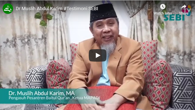Ustadz Dr. Muslih Abdul Karim (Testimony of Sharia Economic Law Study Program)
