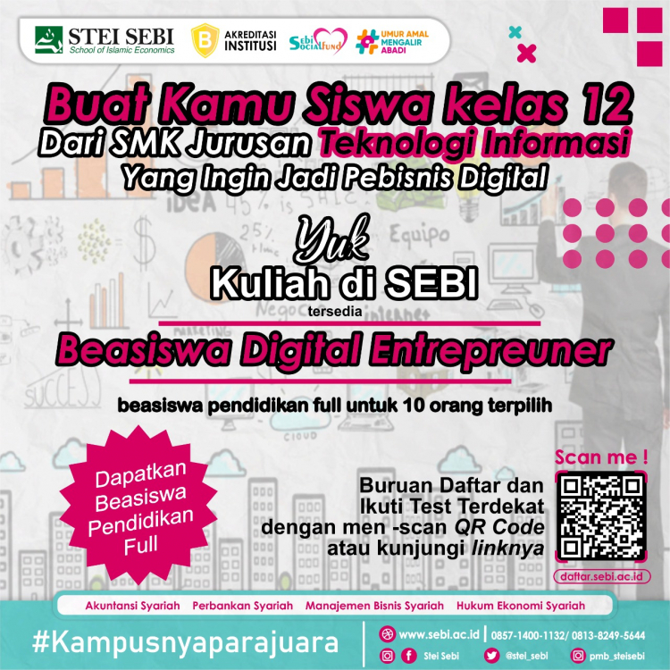BEASISWA DIGITAL ENTERPRENEUR